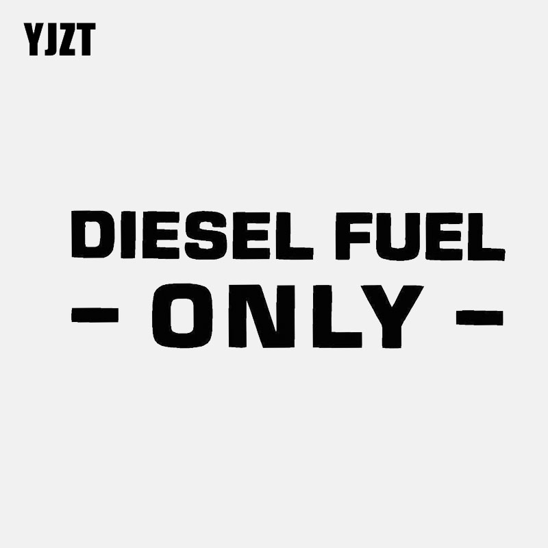 YJZT 13CM*4.2CM DIESEL FUEL ONLY CAR STICKER VINYL DECAL Black/Silver C3-0730