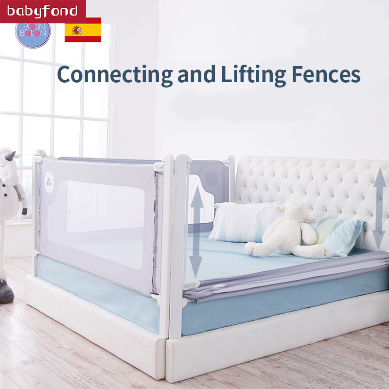 Bolin Bolon bed fence baby shatter-resistant fence big bed baffle height multi-chip stitching vertical lift 72 and 79cmBolin Bolon bed fence baby shatter-resistant fence big bed baffle height multi-chip stitching vertical lift 72 and 79cm