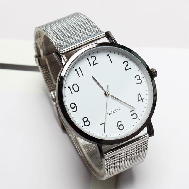 Unisex Simple de moda tira de acero reloj de pulsera de cuarzo reloj de los hombres de deporte de moda reloj de cuarzo relojes para hombre de la marca de lujo de A40