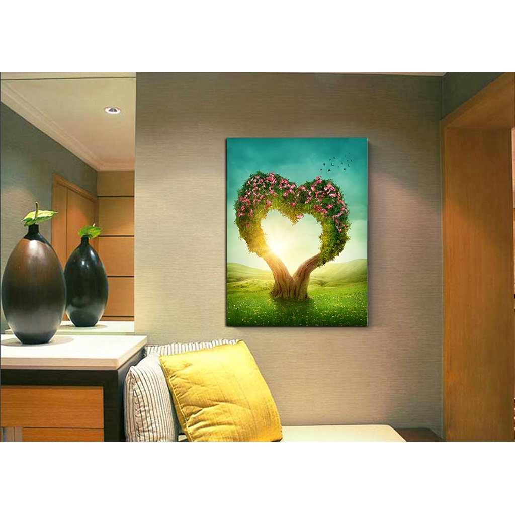 Free shipping 2017 New Product Frameless painting Romantic love tree ...