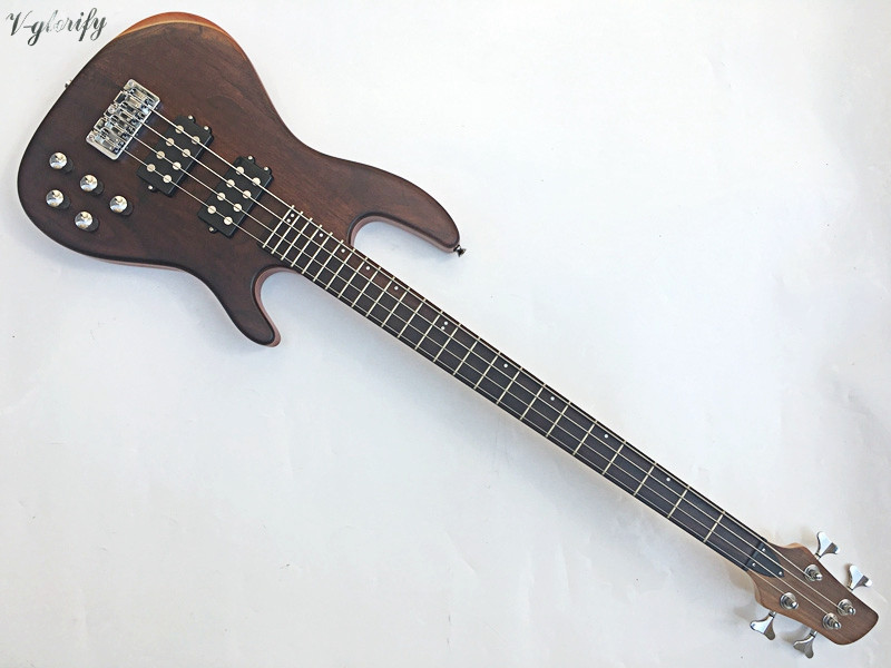 2018 factory new high quality 4 string active electric bass guitar 001202 4 string black 3 4 new electric upright double bass finish silent powerful sound