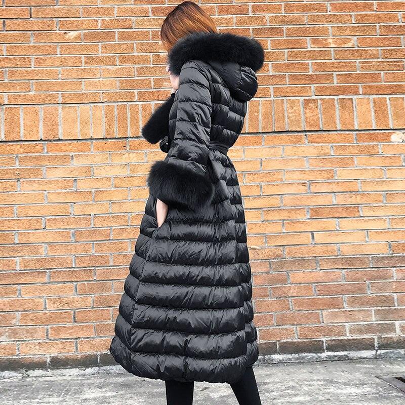Hiver À Long Veste Outwear Black Down Pour Chaud Haute Vintage Parkas Blanc Femmes 007 Qualité Épais De Manteau Capuchon Duvet Canard 5AqZOPw