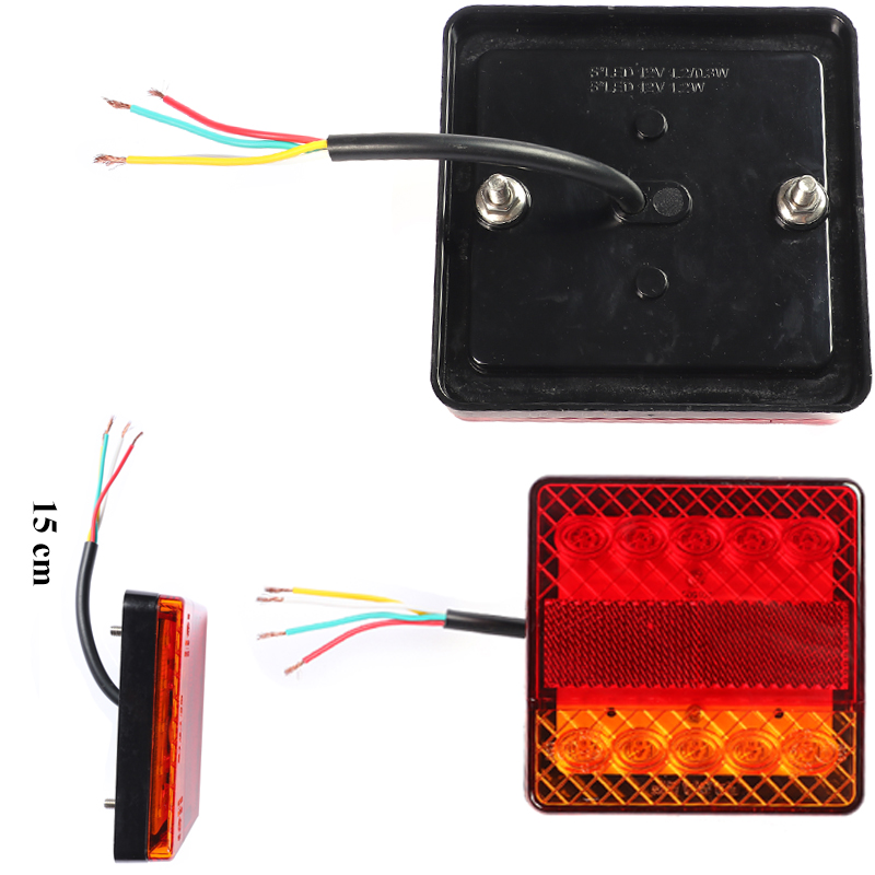 Image 5 - 1 Pair AOHEWEI 12v 10 leds trailer light  brake stop position led light  indicator turn light waterproof Trailer Lamp tail light-in Truck Light System from Automobiles & Motorcycles