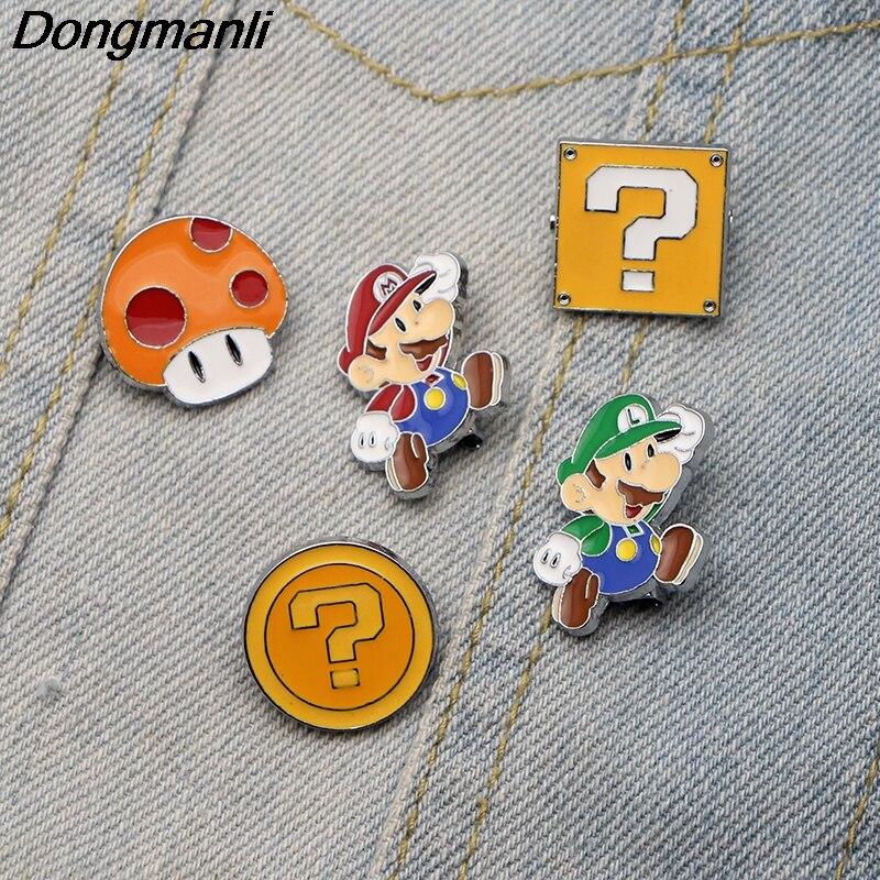 Costume Jewellery Ingenious Super Mario Brothers Mushroom Metal Pins Brooches Cute Bag Breastpin Pin 1pcs
