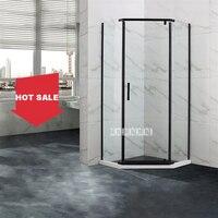 SLM06Z Glass Shower Room Door Stainless Steel Handle Shower Enclosure Aluminum Alloy Side Column Plastic Steel Stone Foundation