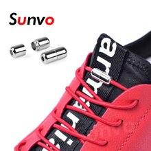 4a56925491bc8 2 قطعة كسول أربطة الحذاء مطاطا جولة لا التعادل أربطة أحذية سريعة قفل مشبك رباط  الحذاء