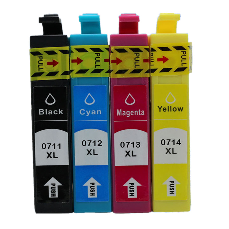 Replacement  71 T0711 T0714 T0715  Ink Cartridge For EPSON Stylus SX215/SX218/SX400/SX405/SX405WiFi/SX410/SX415/SX510