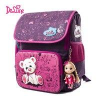 Delune School Bag Children School Backpacks Character Zipper Backpack For Kids