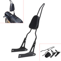 Black Detachable Motorcycle Sissy Bar Passenger Backrest For Harley Davidson Dyna FXD FXDB FXDC FXDL FXDWG