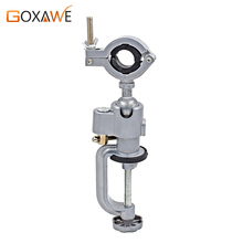 GOXAWEE 360 Degree Grinder Clip-on Round Head Table Bench Vise Vise For Electric Drill Stent Screw Clamp Grinder Tool Holder