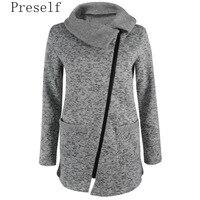 2017 Women Zipper Warm Ladies Tops Casual Long Jacket Hooded Coat Outwear Overcoat