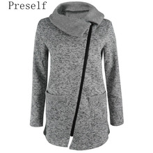 Women Autumn Winter Clothes Warm Fleece Jacket Slant Zipper Collared Coat Casual Clothing Overcoat Tops Female Coat Sweatshirts