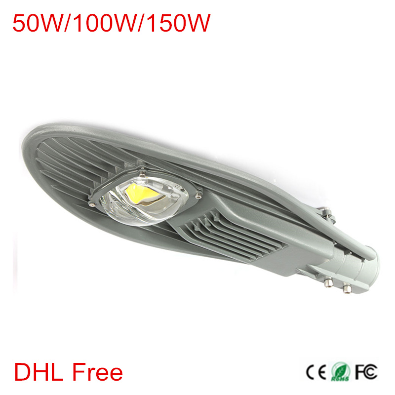 1pcs LED Street Lights 50W 100W 150W Road Lamp Waterproof IP65 AC85-265V Streetlight Industrial light Outdoor lighting lamps