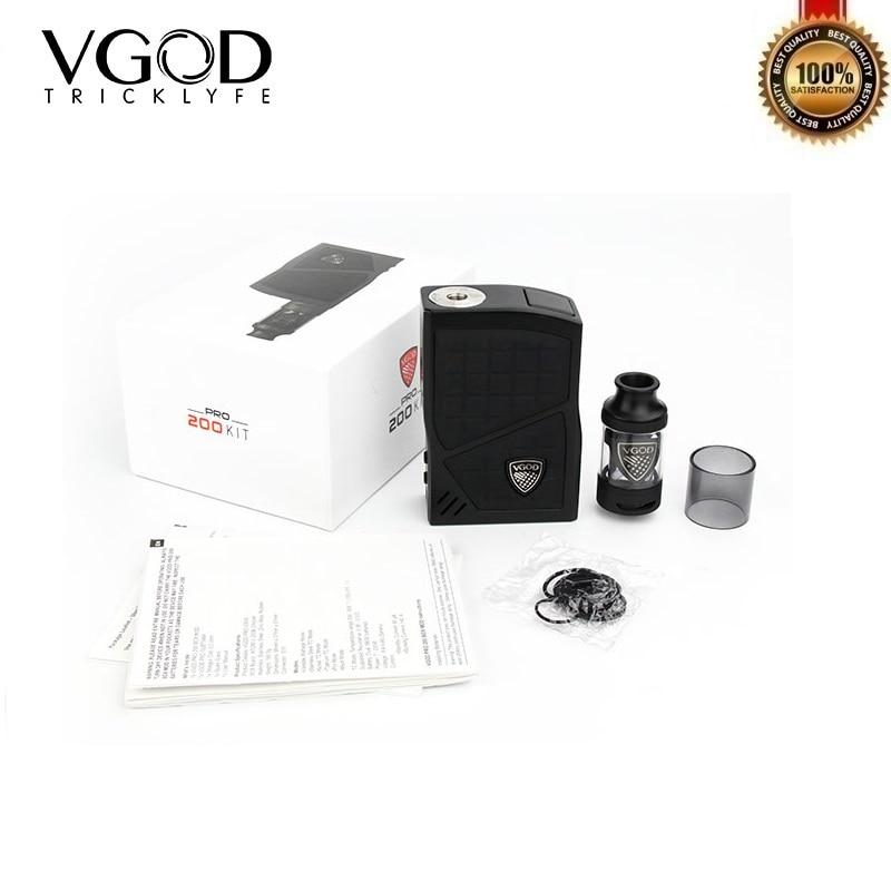 D'origine VGOD Pro 200 Kit TC Vaporisateur 220 w Boîte Mod 200 w 4 ml VGOD Sous Ohm Vaporisateur Réservoir atomiseur Électronique Cigarettes 0.2ohm Bobine
