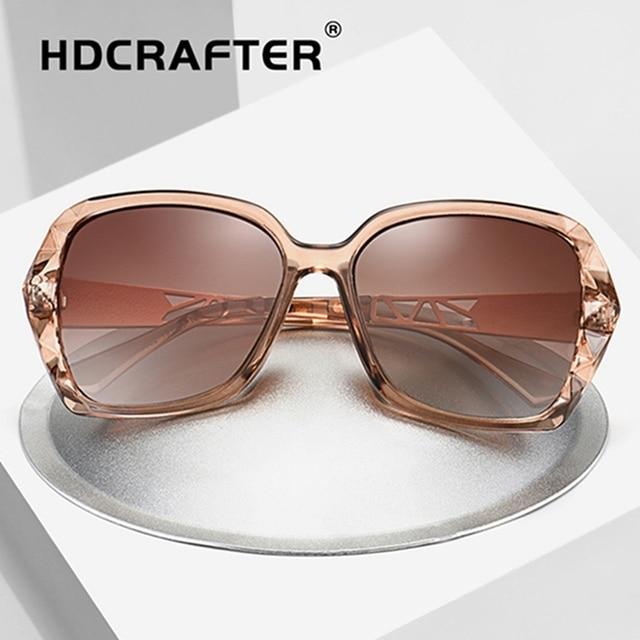 aa00af74ff 2018 Luxury Brand Design HD Polarized Sunglasses Women Ladies Oversized  Square Gradient Sun Glasses Female Eyewear