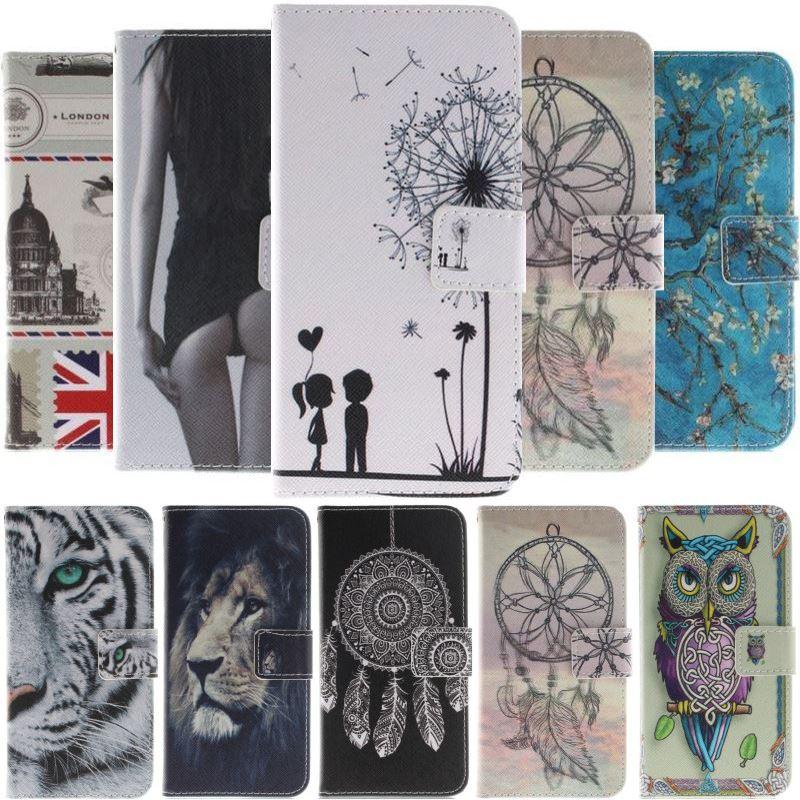 Retro Flip Case For Huawei P Smart 2018 Enjoy 7 7s Honor 8 Plus P20 P8 P9 Lite Mini 2017 Dandelion PU Leather Wallet Cover D26F