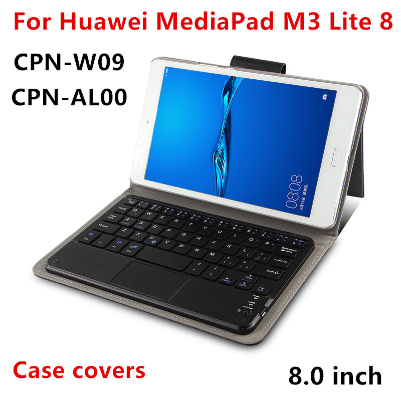 Case Bluetooth Keyboard For Huawei Mediapad M3 lite 8.0 Youth Cover Protective PU Protector Leather cpn-w09 al00 8 Tablet Cases tempered glass for huawei mediapad m3 lite 8 8 0 cpn l09 w09 cpn al00 transparent screen protective film tablet screen protector