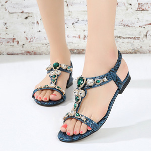 Image 5 - BEYARNESize 34 45 Retro Bohemian รองเท้าแตะเพชรสำหรับสตรี Retro ลูกปัด Serpentine สบายๆรองเท้าแตะสำหรับ womenE543