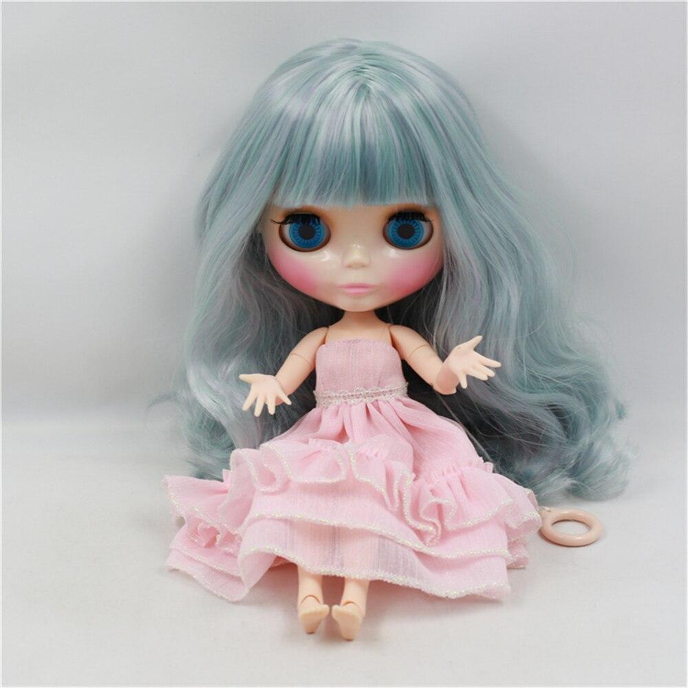 Blyth Doll Nude Doll Long Wavy Hair With Bangs Green Suitable DIY Fashion Blyth Bjd dolls for sale 12 blyth nude doll k 180 black hair bjd blyth doll for sale