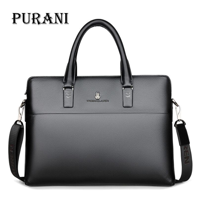 PURANI Genuine Leather Briefcases 14