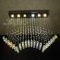 FREE SHIPPING Lighting Lamps Modern Crystal Lamp Ceiling Light Rectangle Restaurant Lights Chandelier Pendant Lights