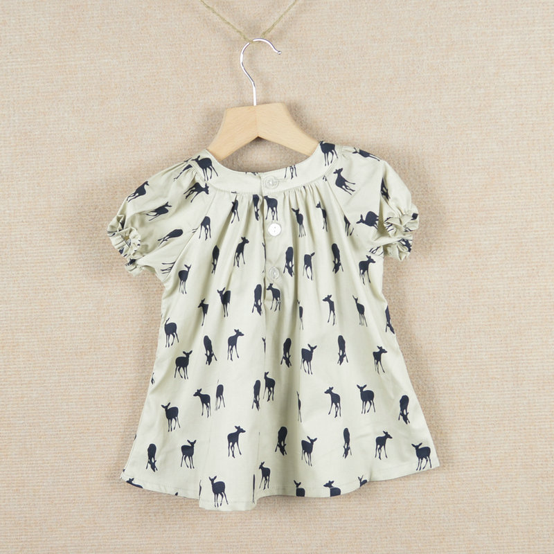 363b1d3e17324 2013 summer bow girls dress deer dresses 100%cotton the dress kids pretty  children clothing,Free Shipping,Wholesale and retail-in Dresses from Mother  & Kids ...