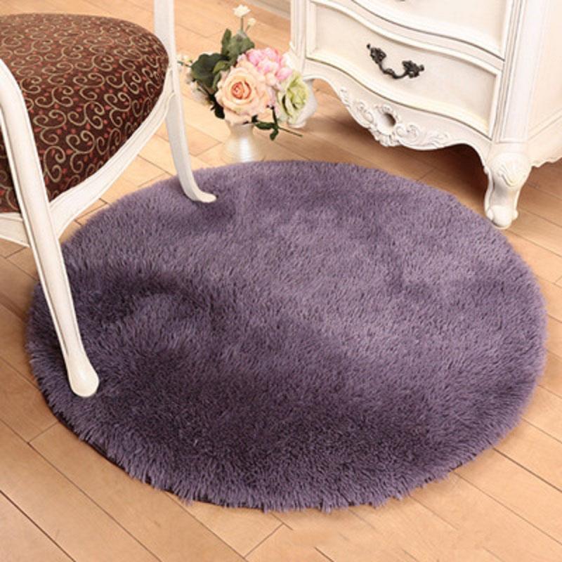 Moderne Runde Carpet Weichem Plsch Teppiche Solide Rot Lila Khaki Blau Rutschfeste Wohnzimmer