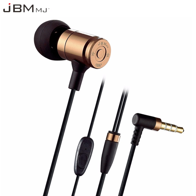 Original JBM MJ007 In Ear Earphone Super Bass Earbuds With Microphone 3.5mm Earphones Stereo Fone De Ouvido 3 5mm heavy bass stereo earphone for nokia 6700 classic gold edition earbuds headsets with microphone metal in ear earphones