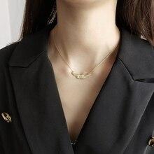 Женское ожерелье с подвеской LouLeur, Золотистое Ожерелье из стерлингового серебра 925 пробы с подвеской «Летающие птицы» оригинального дизайна, Изящные Ювелирные украшения