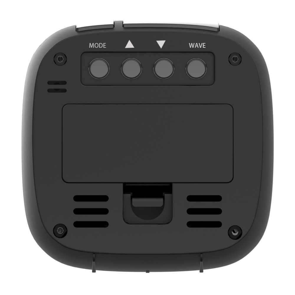 Baldr RCC ANH MSF Mini LCD Kỹ Thuật Số Đồng Hồ Báo Thức Đèn Nền Lịch Cảm Biến Nhiệt Độ Snooze Hẹn Giờ Nhiệt Kế Du Lịch Đồng Hồ