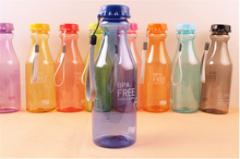 1PC Unbreakable Frosted Leak-proof Plastic kettle 550mL BPA Free Portable Water Bottle for Travel Yoga Running Camping KB 1359