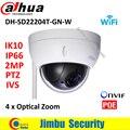 Dahua SD22204T-GN-W2Mp Сеть Мини PTZ камеры Speed Dome 4x оптический зум Открытый Камера С Автоматической ДИАФРАГМОЙ Английский Прошивки