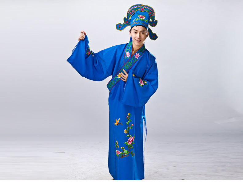 Hot Sale Chinese Traditional Beijing Peking HuangMei Yue Opera Dramaturgic Unisex Costume Gown Robe il costume di opera cinese in Chinese Folk Dance from Novelty Special Use
