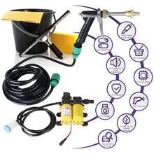 12 Volt Portable High Pressure Water Pump, Car Wash Device Fit for Auto RV Marine,Pets Showering,Window Electric Car Washer kit
