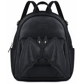 2019 Gothic 3D Bat Mini Backpack For Girls Ladies Stylish Black Bat Wing Backpack PU Leather Daypack Women Female Small Backpack