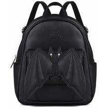 2019 Gotik 3D Yarasa Mini Sırt Çantası Kızlar Için Bayanlar Şık Siyah Yarasa Kanat Sırt Çantası PU Deri Sırt Çantası Kadın Küçük sırt çantası