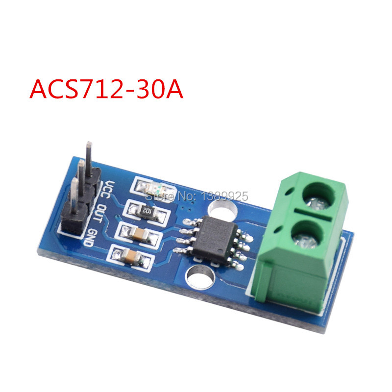 Free Shipping 10Pcs/lot Hot Sale ACS712 30A Range Hall Current Sensor Module ACS712 Module For arduino 30A