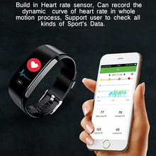 Blood Pressure Heart Rate Fitness Tracker Pedometer Smart Watch