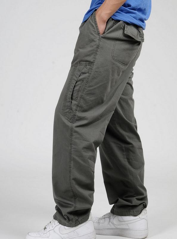 Новинка весна лето размера плюс мужские брюки карго хлопок свободные брюки мужские брюки 3XL 4XL 5XL 6XL - Цвет: Армейский зеленый
