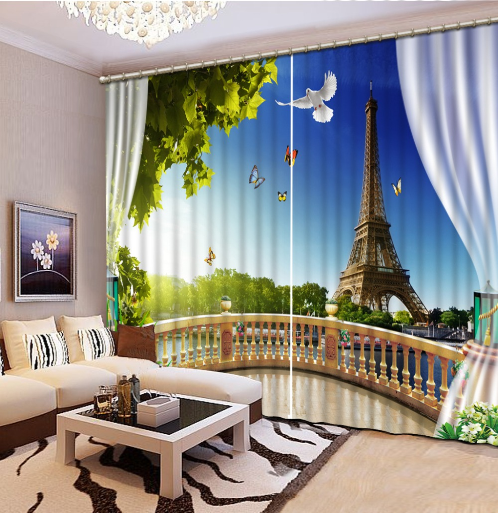 Curtains Tower Blackout 3D Curtains For Living Room office Decor Bedroom Custom Any size Girls Room CurtainsCurtains Tower Blackout 3D Curtains For Living Room office Decor Bedroom Custom Any size Girls Room Curtains