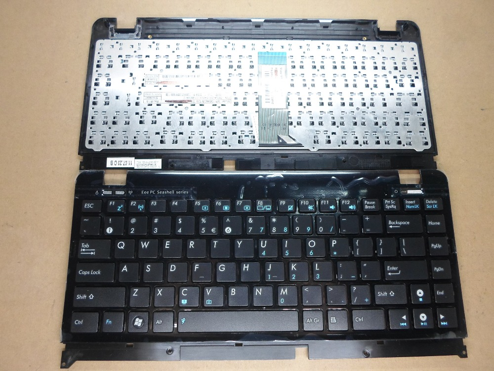 New Laptop keyboard for Asus EEE PC 1225C 1225B 1215B  US layout new laptop keyboard for asus 0kn80 1120fr00 black windows 8 french layout