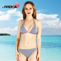 VIJF HOOFD 2018 vrouwen nieuwe streep is een bikini pak, zomer zwemmen moet