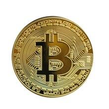 1 шт Позолоченные Bitcoin монета коллекционные подарок Casascius Бит монета арт-коллекция монет btc физической памятная монета TSLM1