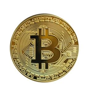 1 Pcs Gold Plated Bitcoin Coin Collectible Gift Casascius Bit Coin BTC Coin Art Collection Physical Commemorative Coin TSLM1(China)
