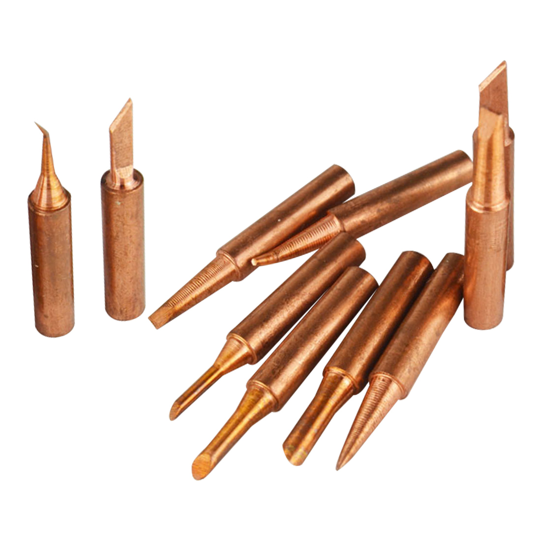 5 Pcs Pure Copper 900M-T Soldering Iron Tip Lead-free For Hakko Soldering Rework Station Soldering Tips