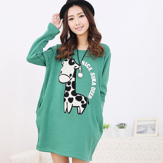 d82fd1050 Spring maternity onta embroidered velvet 100% cotton ball maternity  sweatshirt dress t-shirt outerwear