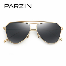 PARZIN Brand Vintage Pilot Sunglasses Quality Luxury Alloy Frame Aviator Glasses Polarized For Driver Summer Accessories 9735