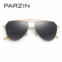 PARZIN Brand Vintage Pilot Sunglasses Quality Luxury Alloy Frame Aviator Glasses Polarized For Driver Summer Accessories