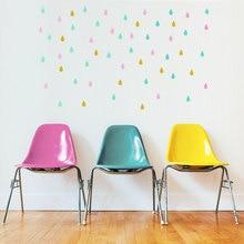 24pcs removable Raindrops Water drip Drop wall stickers,home refrigerator furniture bathroom door decor mural,M2S1