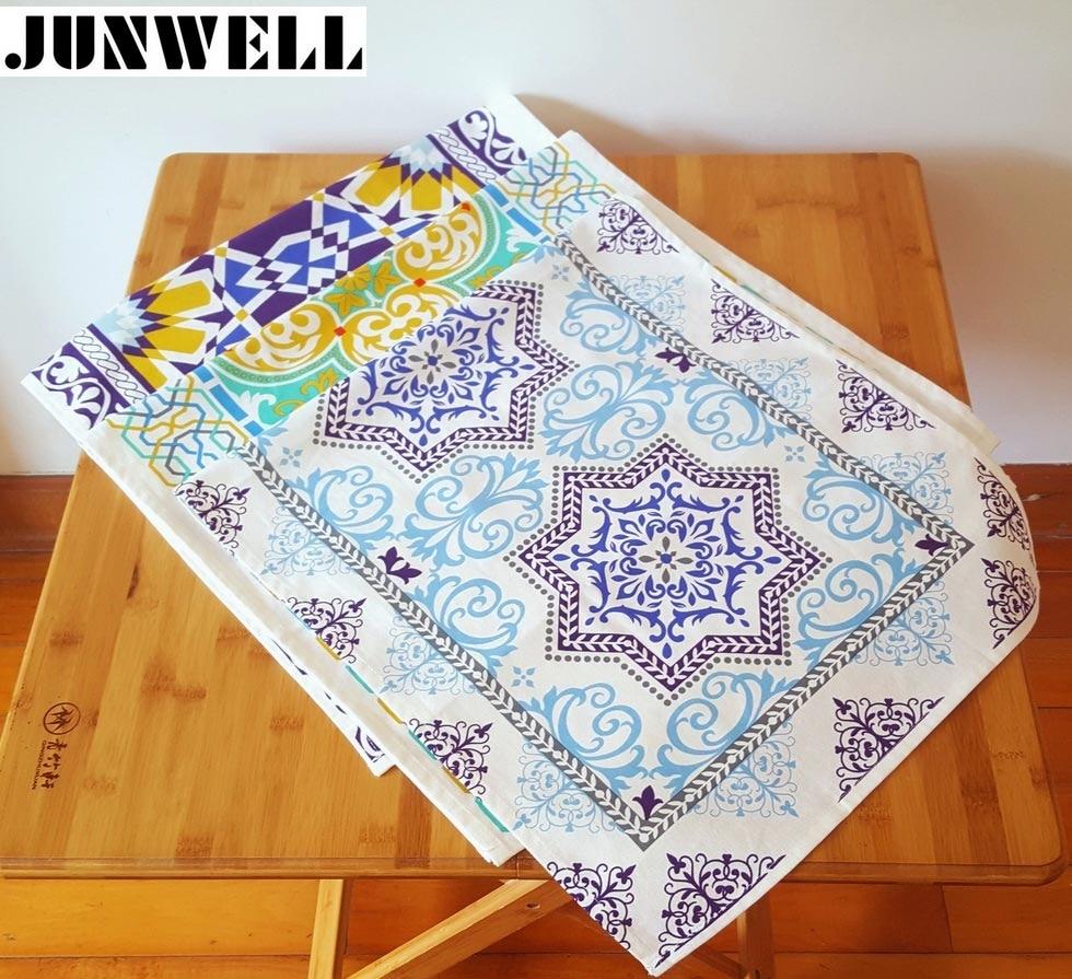 3PCS/SET Assorted 45X90CM Cotton/Linen Dishtowel Kitchen Towel Cleaning Cloth Tea Towel Ultra durable Napkin Table runner